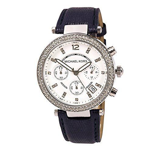 Michael Kors Watch MK2293 Parker Navy Leather Strap 39mm