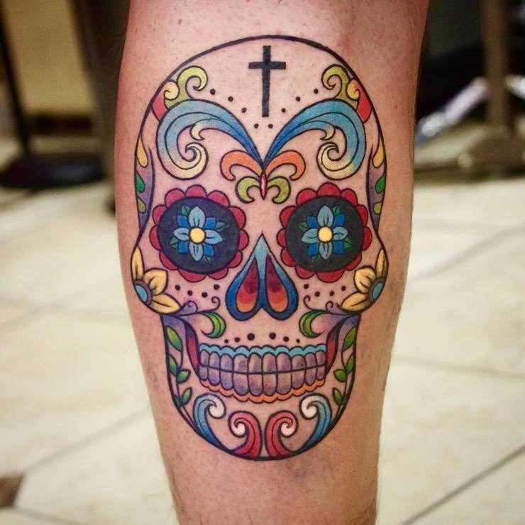 30 Amazing And Inspiring Sugar Skull Tattoos Designwrld Sugar Skull Tattoos Candy Skull Tattoo Mexican Skull Tattoos