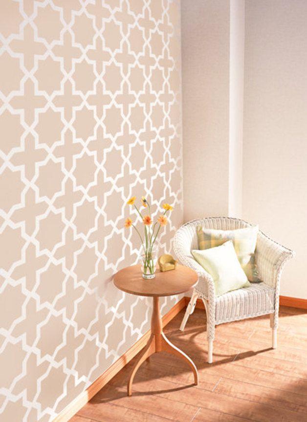 Wanddeko Marokkanischen Octagram Dekorative Wandschablone Ein