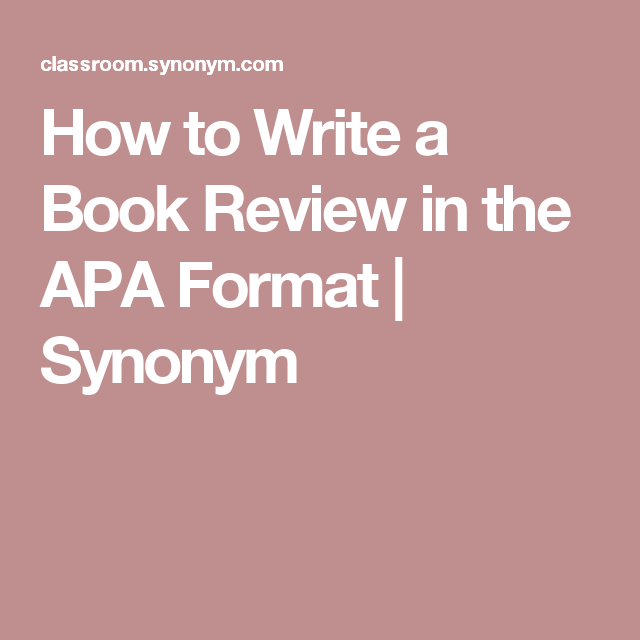 how to write a book critique apa style