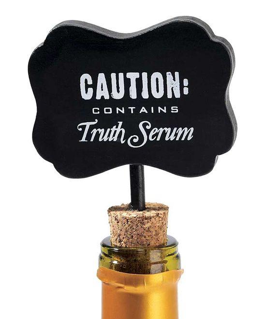 'Truth Serum' Chalkboard Wine Sign | zulily