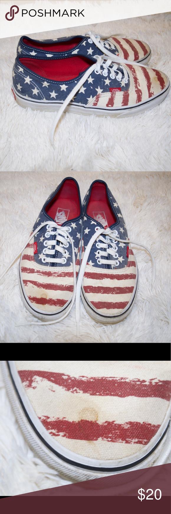 USA US flag American America vans size   Vans, American flag vans ...