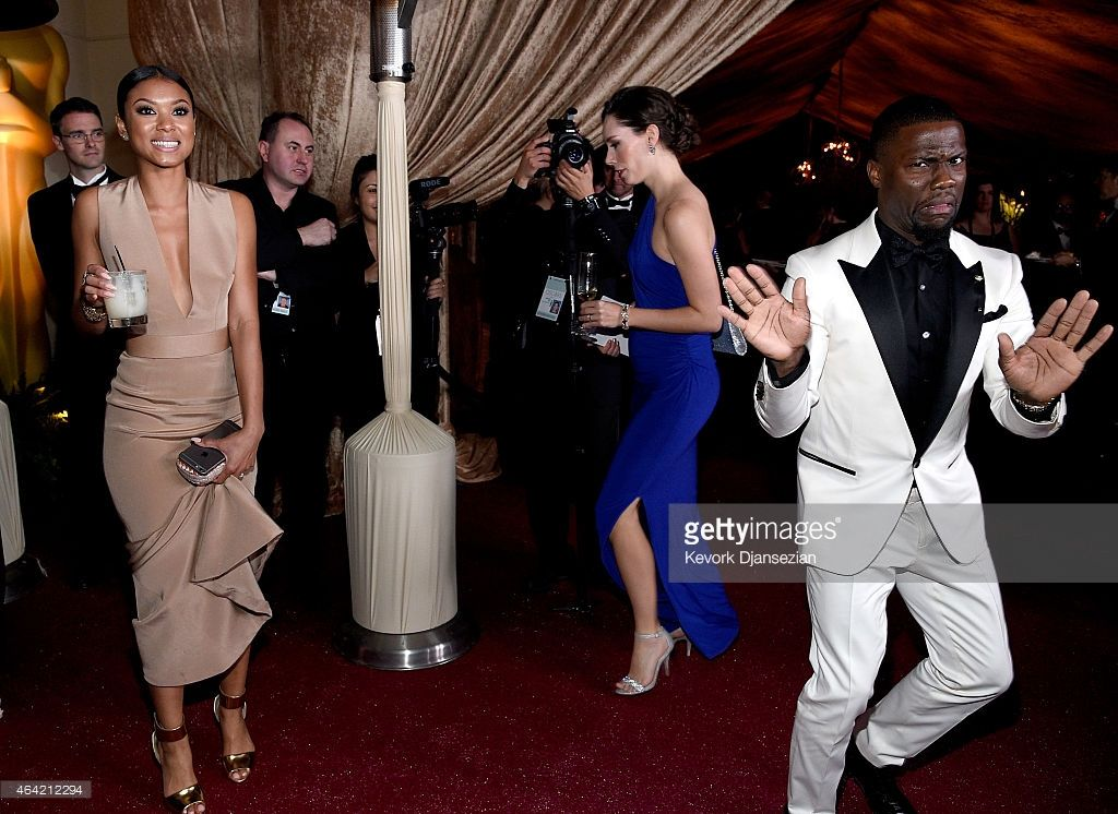 Nyhetsfoto : Actor Kevin Hart and Eniko Parrish attends the...
