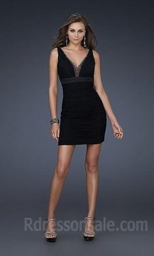 Choosing Pretty Empire V-neck Evening Dress According To Your Body Shape!