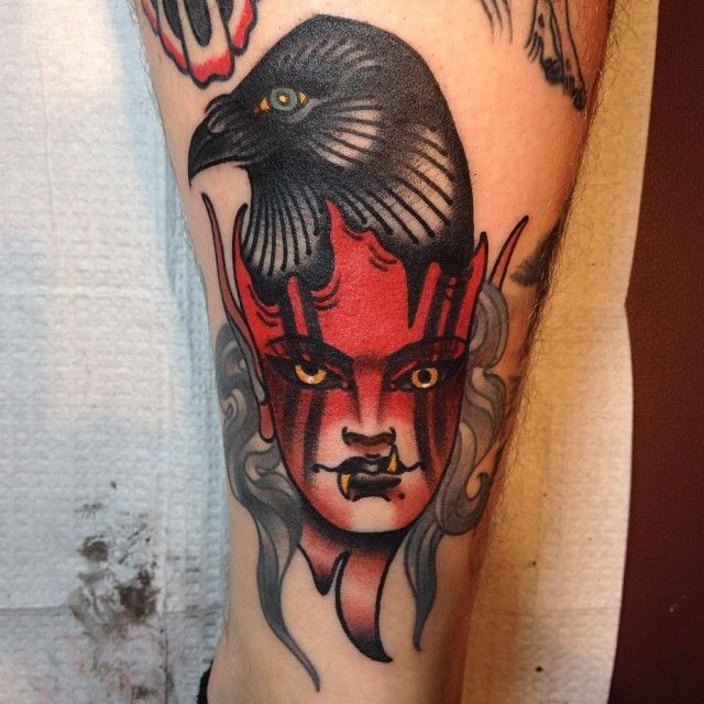Clamore Wolfmeyer as featured on Swallows  Daggers. www.swallowsndaggers.net #tattoo #tattoos #girls