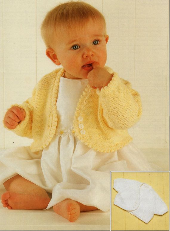 Baby Knitting Pattern Girls Knitting Pattern Bolero Baby Bolero