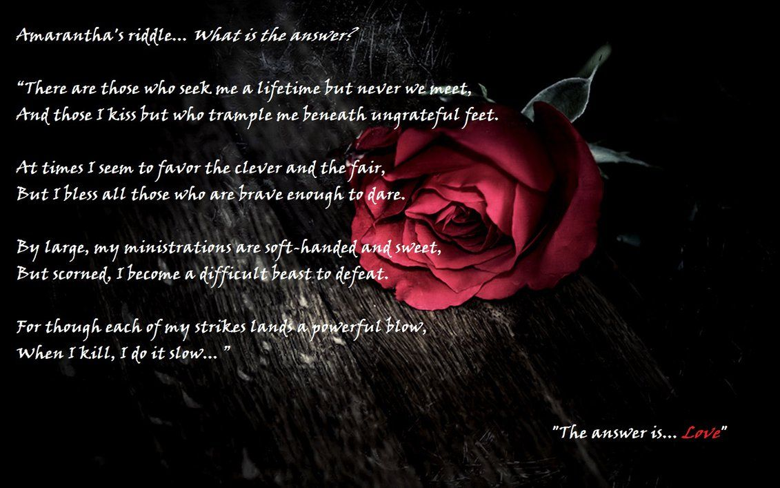 Amarantha S Riddle A Court Of Thorns And Roses By Lilithnight01