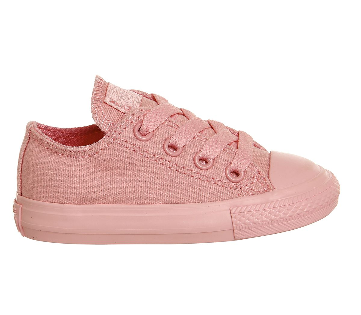 Buy Daybreak Pink Mono Converse All Star Low Infant from OFFICE.co.uk.