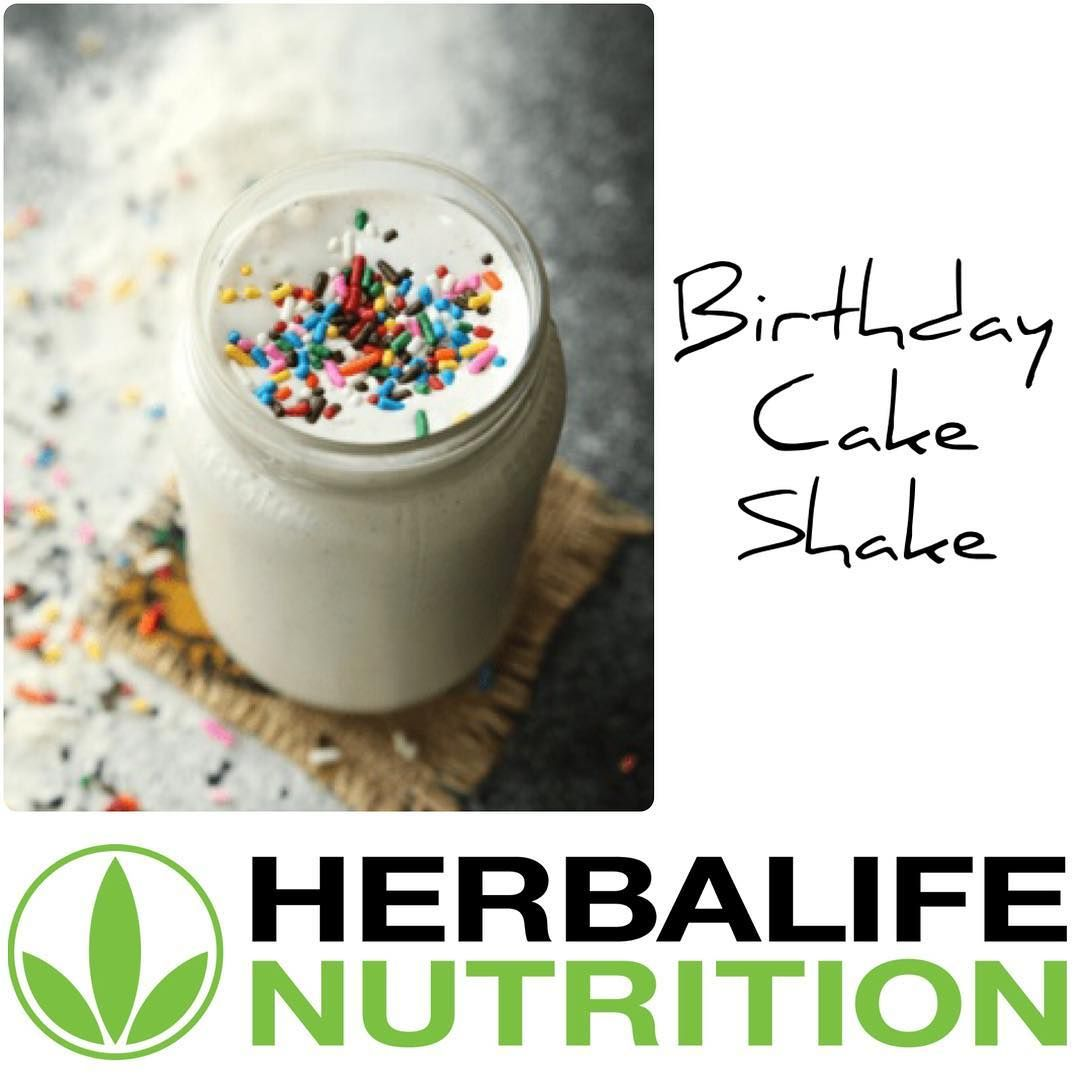 Low Calorie Birthday Cake Shake RECIPE Blend Together 60ml Unsweetened Almond Milk 55g Non Fat Greek Yogurt 20g Oatmeal 45g Vanilla Herbalife F1 Other