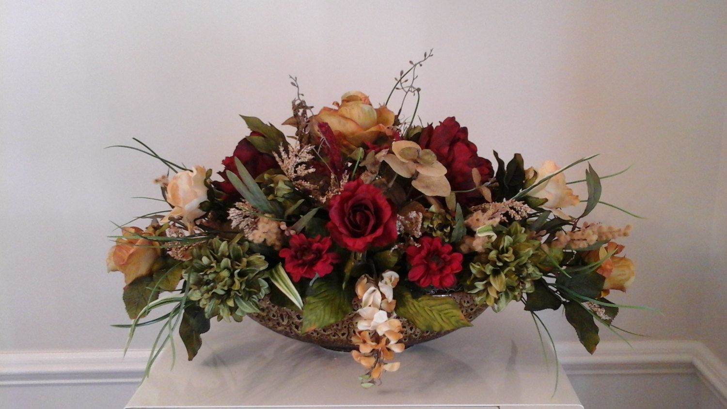 Elegant floral arrangement tuscan large silk