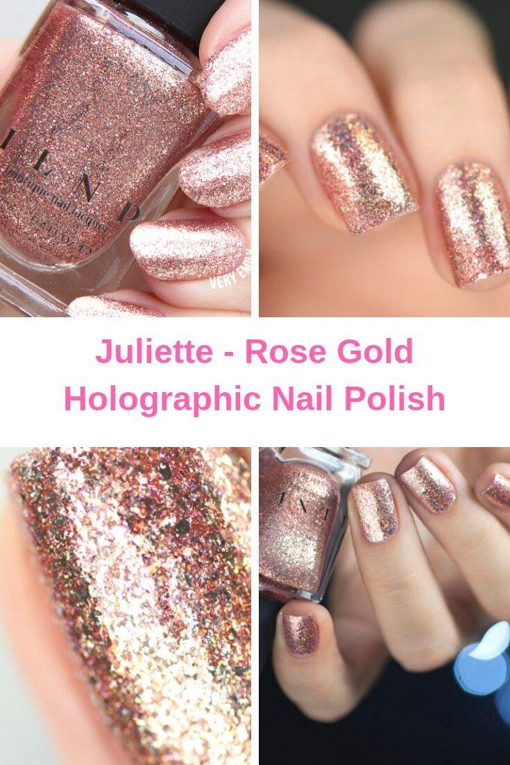 ad Juliette - Rose Gold Holographic Nail Polish | Make-up & Hair ...