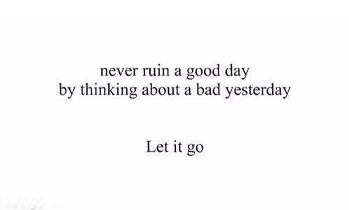 Let go and ....