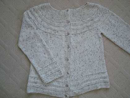 Transitions Yoke Cardigan - Becky's Knitting Patterns
