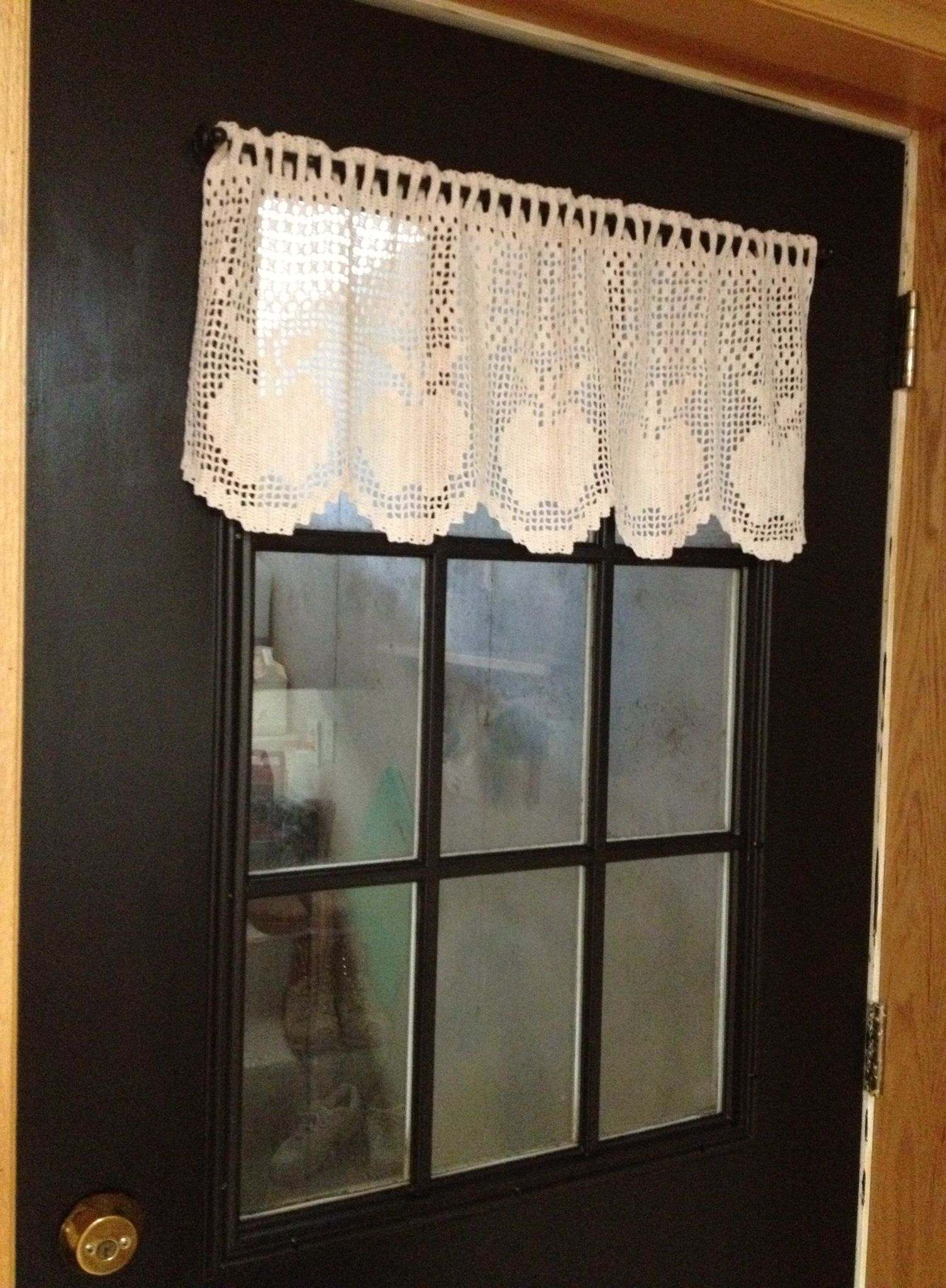 Filet crochet apple valance | Filet Crochet | Pinterest | Häckeln ...