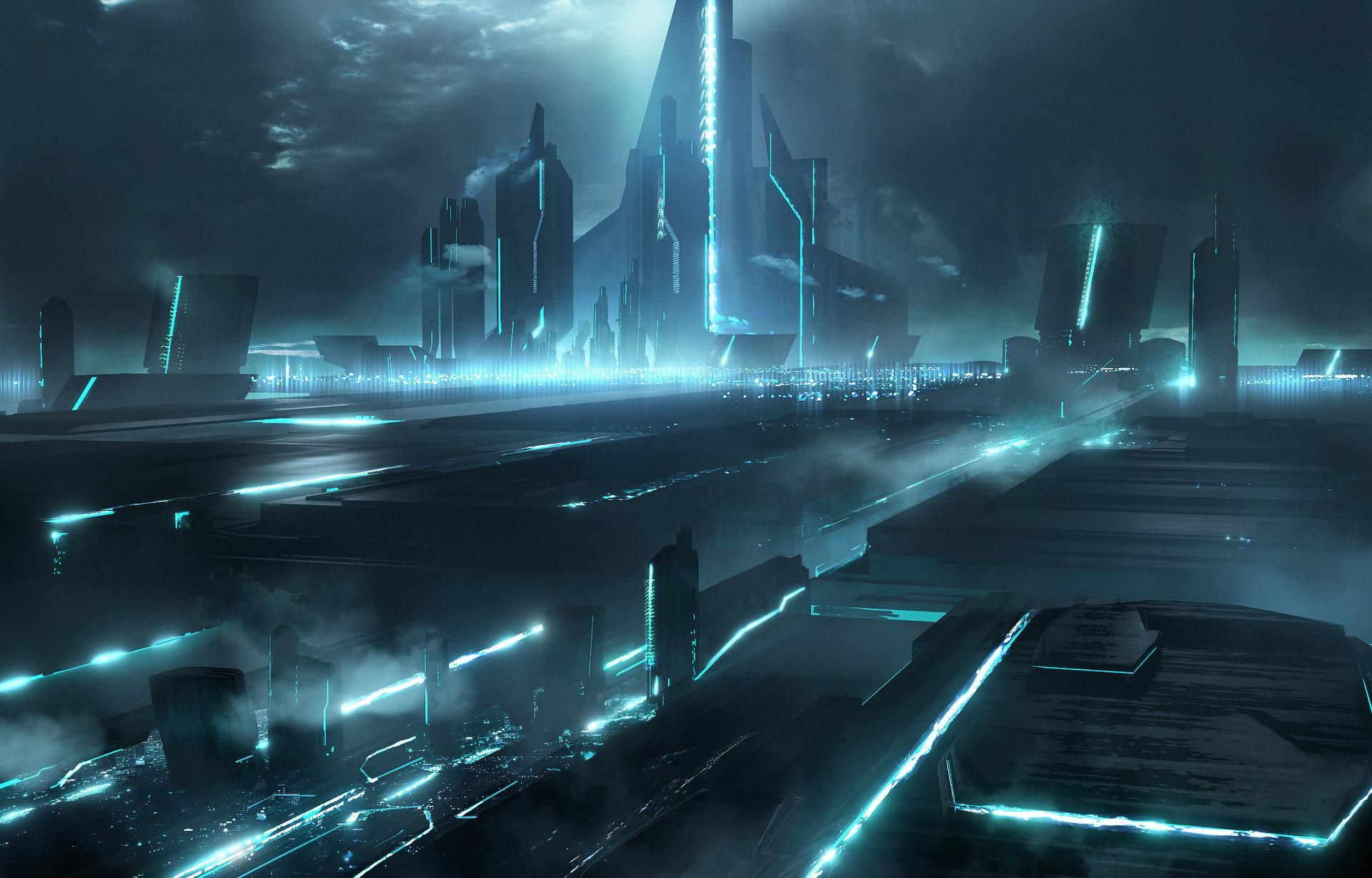 Tron City Wallpapers Free Backgrounds And