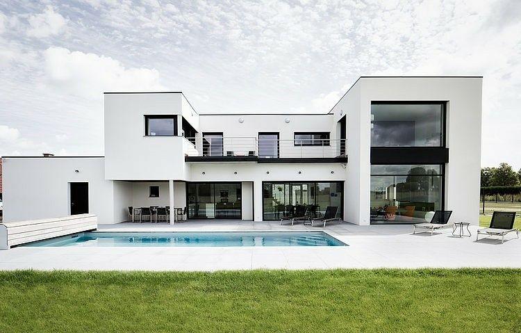 Amenagement Jardin Avec Piscine Design Idee Maison Moderne Toit Plat Maison Moderne Maison