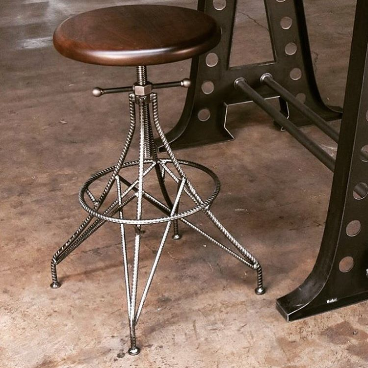All Hand Made — vintageindustrial:   Our new Rebar stool…... #vintageindustrialfurniture