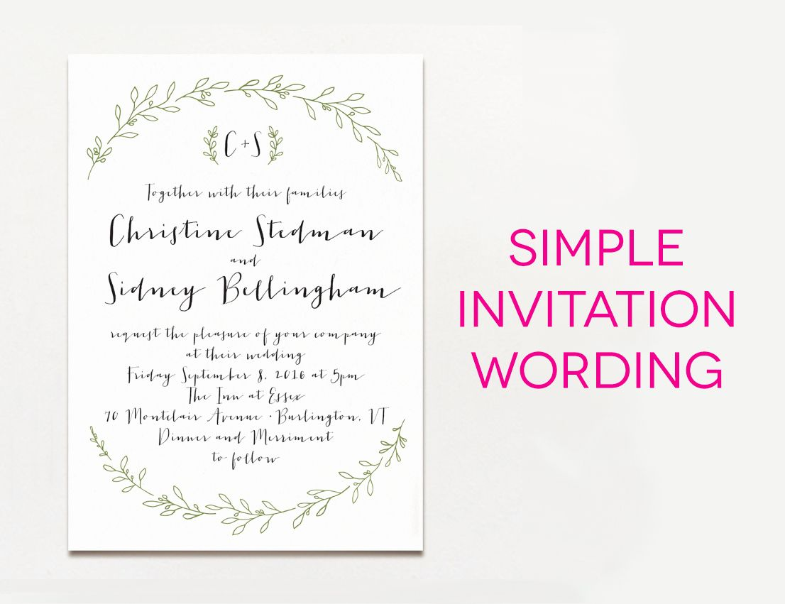 Image Result For Romantic Wedding Invitation Simple Wedding Invitation Wording Wedding Invitation Wording Examples Wedding Invitations Examples