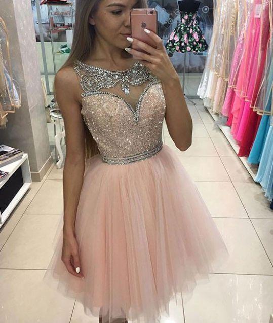 dress, pink dress, tulle dress, short dress, cute dress, short pink ...