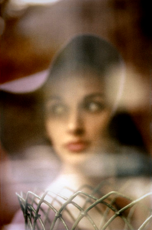 Carol Brown photographed by Saul Leiter for Harper's Bazaar, c.1958.