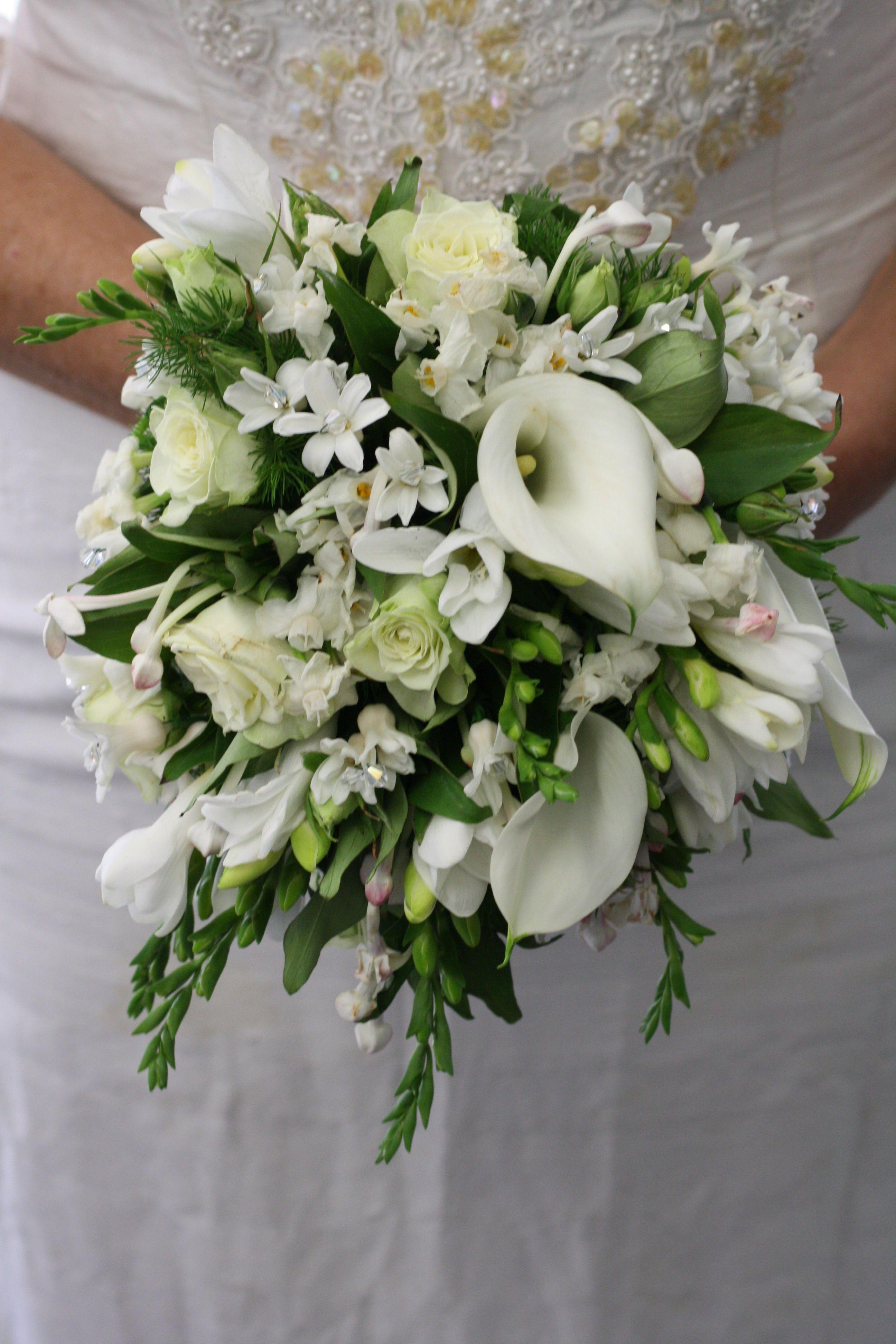 Princess kate inspired vintage bouquet calla lilies wedding and kate inspired wedding bouquet white calla lilies freesias stephanotis hyacinthroses dhlflorist Choice Image