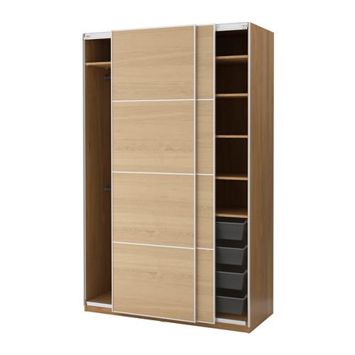Ikea pax türen vinterbro  PAX Wardrobe Oak effect/ilseng oak veneer 150x66x236 cm | Pax ...