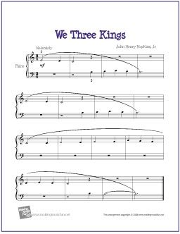 We Three Kings | Free printable sheet music, Printable sheet music ...