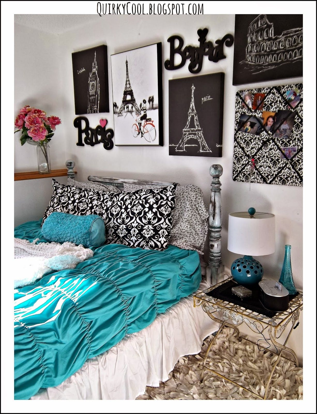 Quirky cool a parisian chic room that diy party for Quirky bedroom items