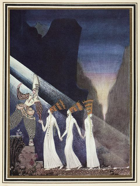 """Kay Nielsen, one of his illustrations for """"East of the Sun, West of the Moon"""" (1914); from the National Library of New Zealand on Flickr Commons."""