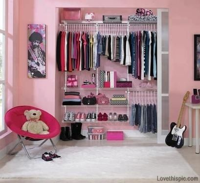 Pink Closet Setup Girly Girl Pink Organize Organization Organizing Organization Ideas Being Organized