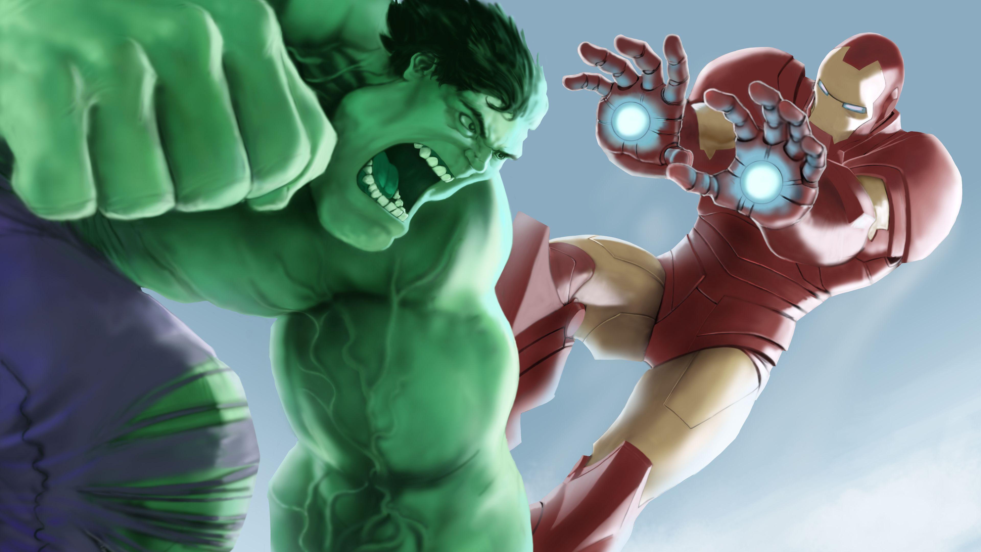 Wallpaper 4k Iron Man Hulk Airborn 4k 4kwallpapers, 5k