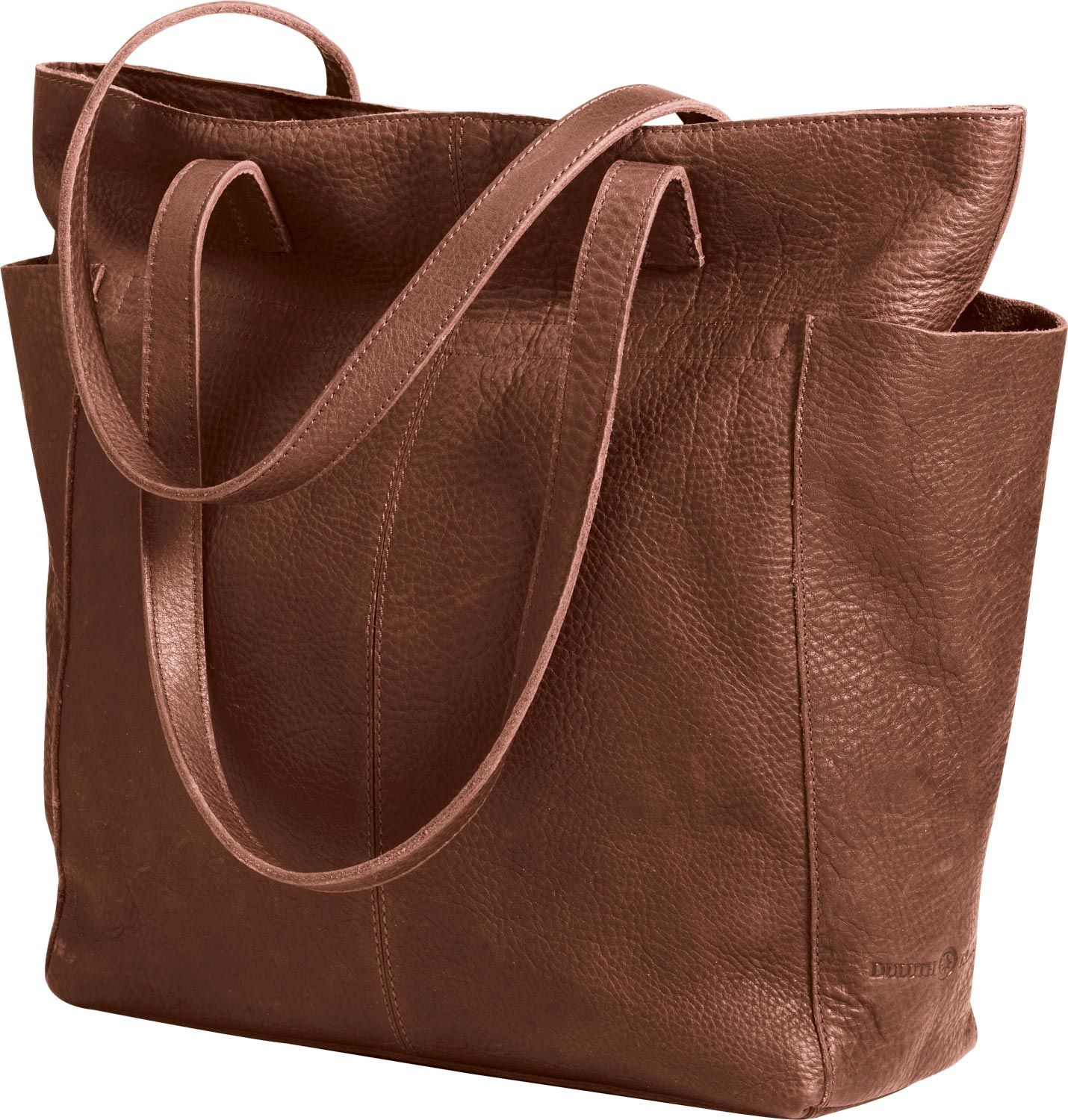 099af6de5c0c5c Women's Lifetime Leather Travel Tote Bag from Duluth Trading Company is  made of beautiful, full-grain leather. This bag gets better with age,  softening and ...