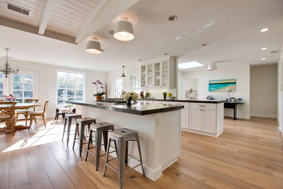Rubio Monocoat Traditional Kitchen Decorators Orange County Caesarstone Grey Countertop Hardwood Floor Island Gas Range Large Window Light W