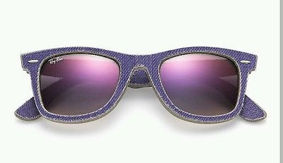 cfe10aca7 RAYBAN ORIGINAL WAYFARER DENIM RB2140 1167/S5 Purple/Violet Gradient NO  RESERVE!