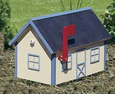 Amish Barn-Style Wooden Mailbox