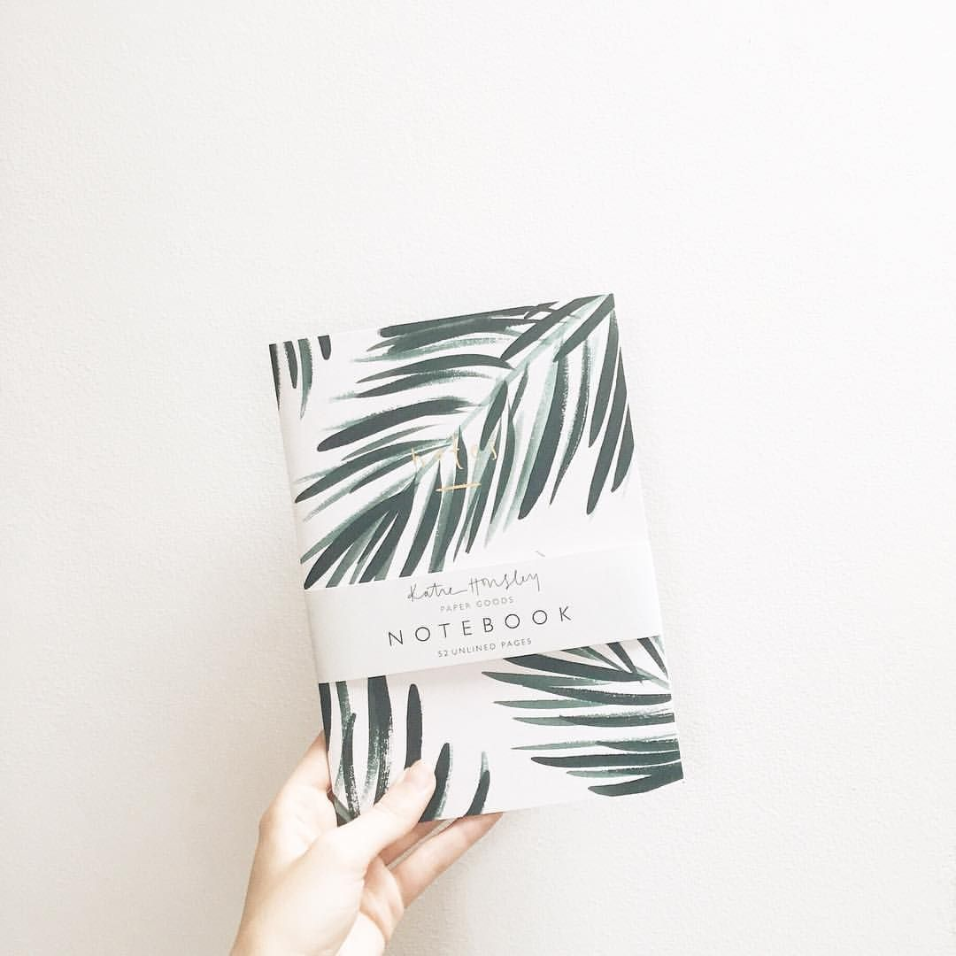 Botanical Palm Gold Foil Notebook by Katie Housley