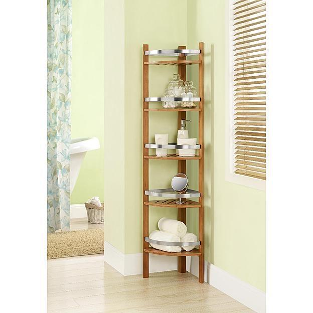 Dorel Home Furnishings Cherry 5 Shelf Bamboo Bathroom Corner Tower Kmart 135