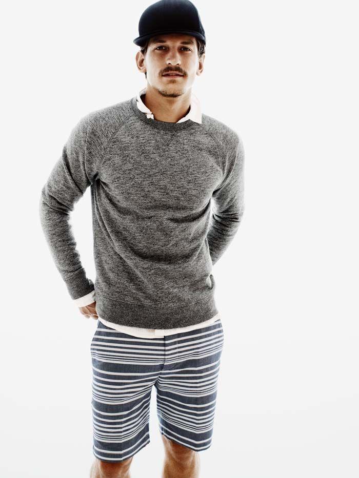 Crewneck The Melange Lightweight Knit Or Sweat Pakaian Kasual Pria Pakaian Pria Barang Pria