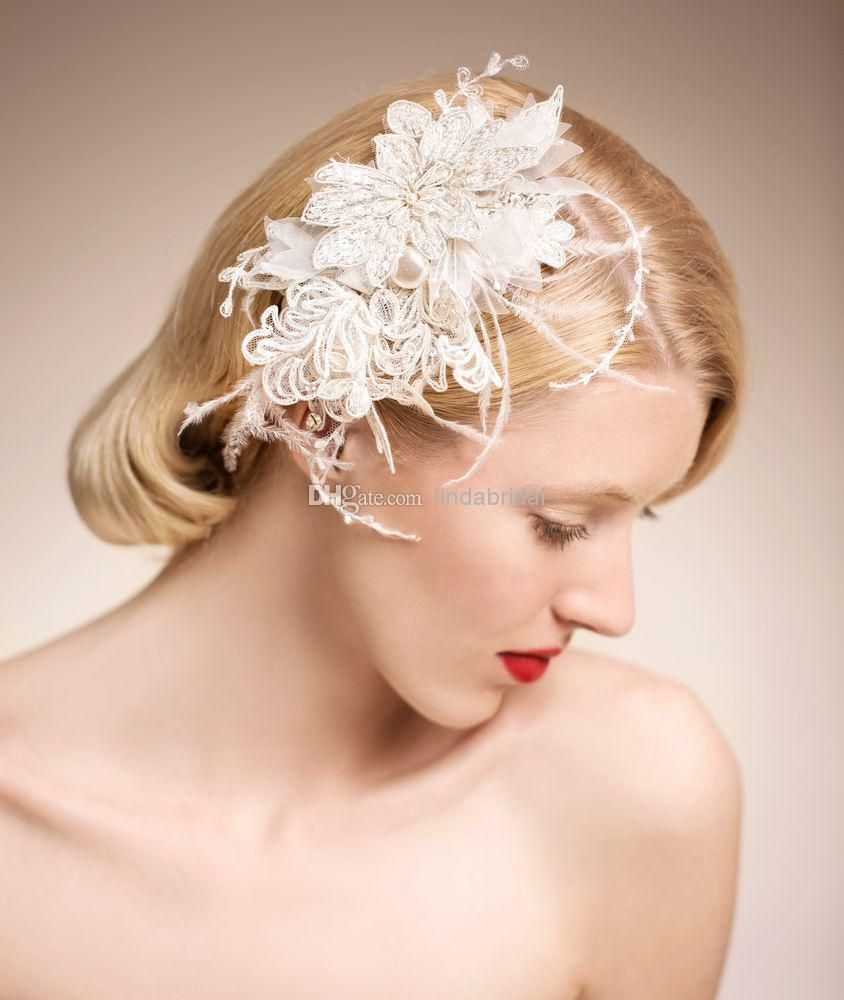 stunning bridal accessories vintage pearls feather hair accessories