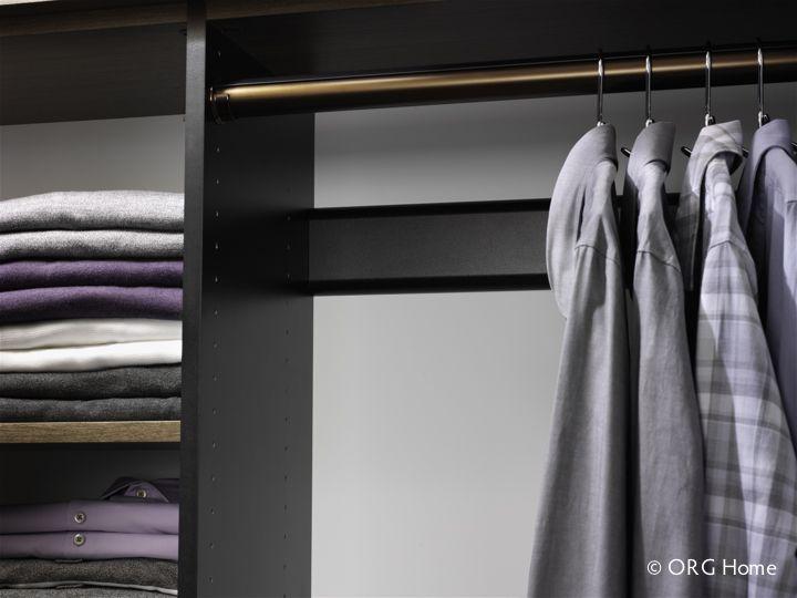Round closet hanging rod
