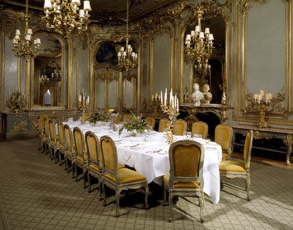 The French Dining Room with Rococo boiseries panelling marble – Dining Room in French