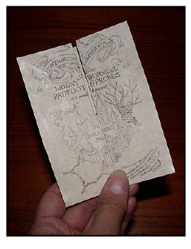 photograph regarding Harry Potter Marauders Map Printable named Create your particular Marauders Map (printable with folding
