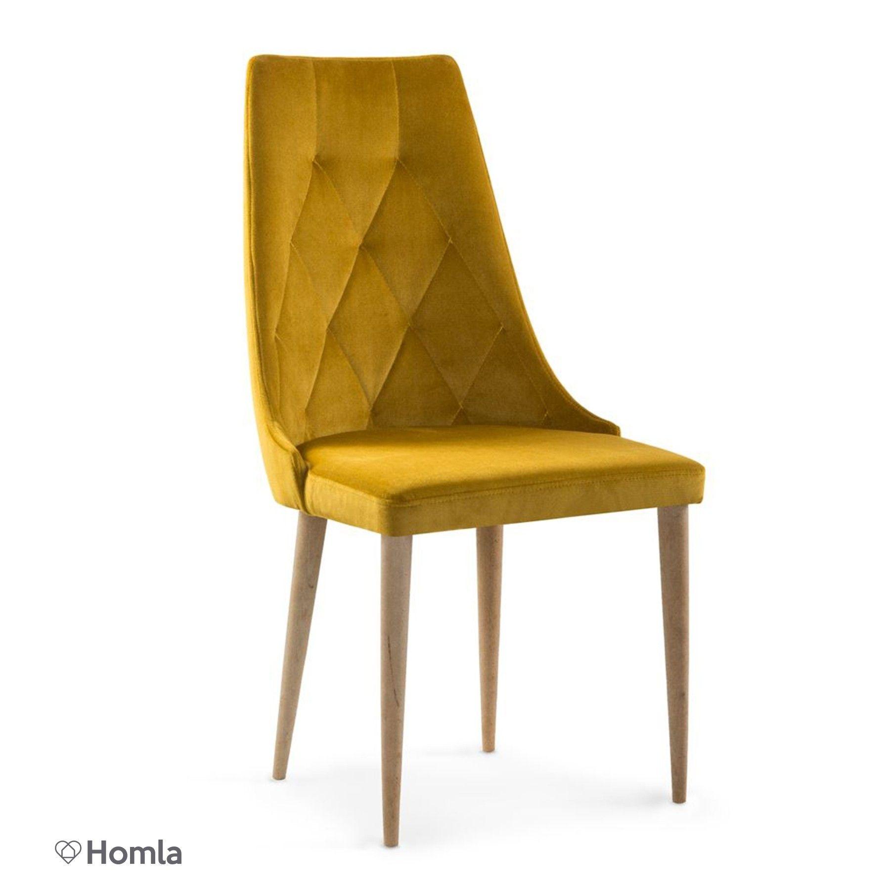 Prag Krzesło Musztardowe 98x50 Cm Homlacompl B93