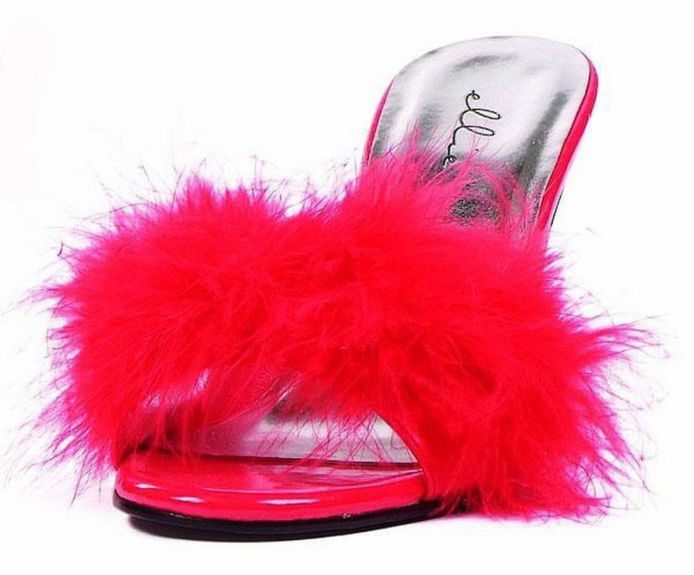 cc5808611f6b ELLIE Shoes High Heels Womens Maribou Feathers Slippers 361-SASHA RED Sz 6  SEXY  EllieShoes  Mules  sexy