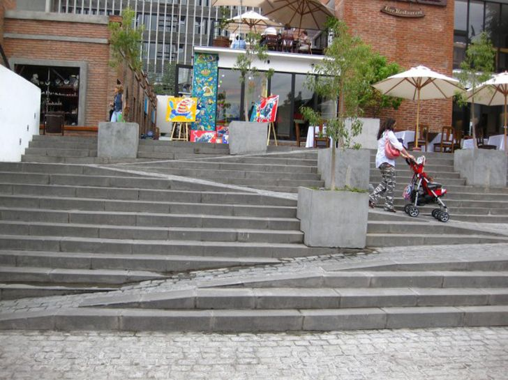creative ramp stairs for the able and disable  stair ramp combination