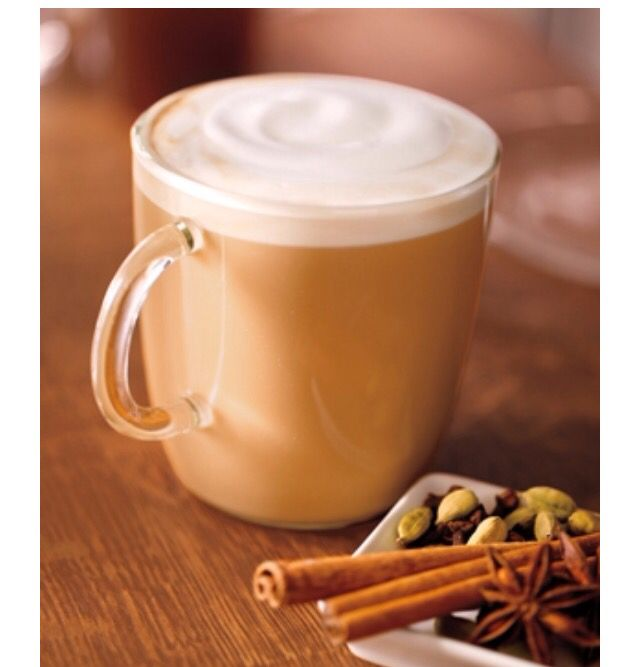 CHAI LATTE Ingredients- Milk, Water, Chai Tea Concentrate