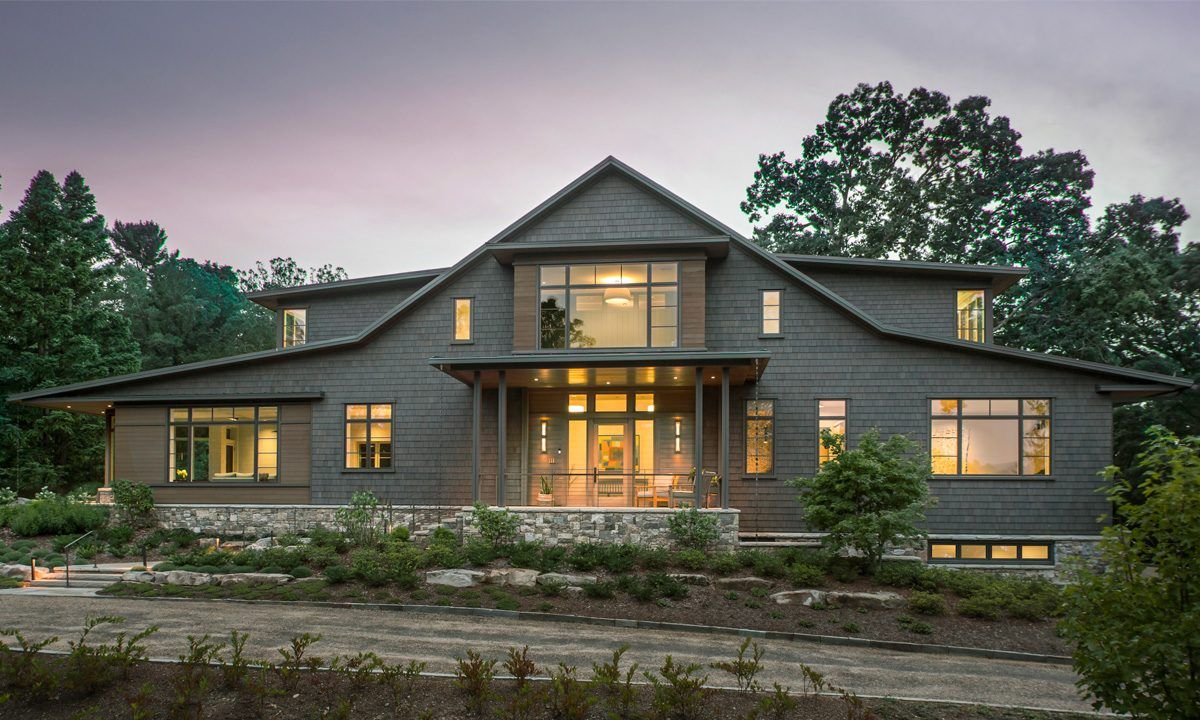 Beautiful Mountain Modern Home In North Asheville Glowing At Twilight Architecture By Samsel Architects Nc