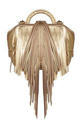 The Volon Shu-Shu Golden Fringe Small Handbag