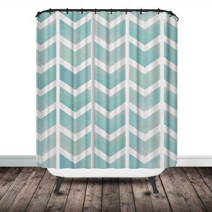 Teal Chevron Shower Curtain httpjsnelsonus Pinterest Teal