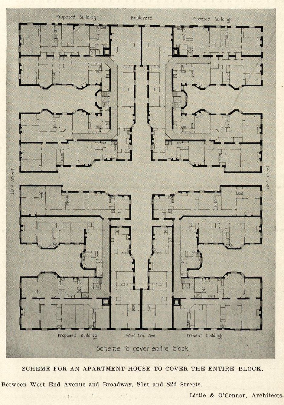 Floor Plan For An Apartment Building New York City Archi Maps Photo